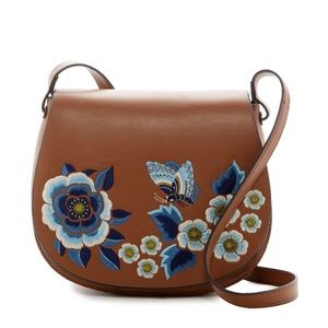 French Connection Embroidered Saddlebag